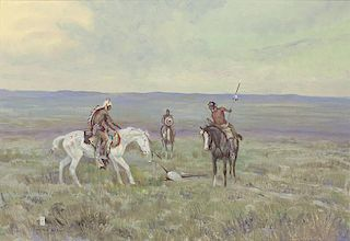 Asa (Ace) Powell 1912 - 1978 | Indian Scouts on Horseback