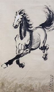 * Attributed to Xu Beihong, (1895-1953), Galloping Horse