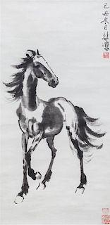 * Attributed to Xu Beihong, (1895-1953), Horse