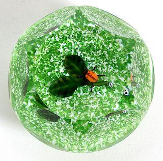 DELMO TARSITANO ART GLASS PAPERWEIGHT