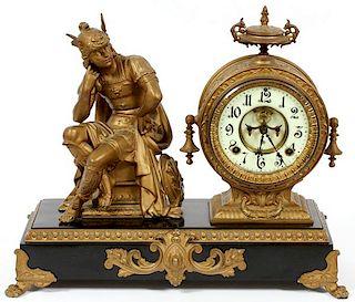 ANSONIA MERCURY FIGURAL MANTLE CLOCK LATE 19TH C.