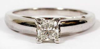 .70CT PRINCESS CUT DIAMOND ENGAGEMENT RING