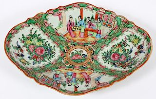 FAMILLE ROSE CHINESE FOOTED PLATTER 19TH.C.