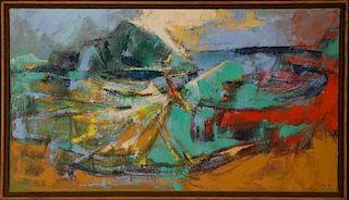 EDWARD R. LEWIS (1914-1992) 1967 ACRYLIC ON CANVAS