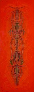 DAVID HENRY HIGHTOWER (b. 1941) PINSTRIPE ENAMEL PANEL
