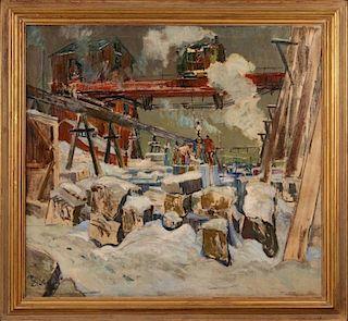 THOMAS BARNETT (1870-1929) ST. LOUIS INDUSTRIAL SCENE