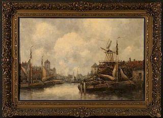 JAN VAN COUVER (DUTCH 1836-1909) OIL ON BOARD