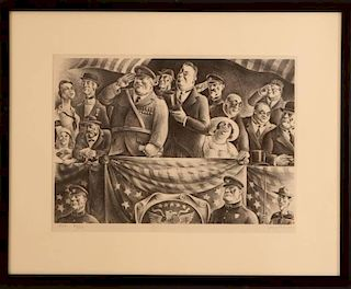 RUSSELL THEODORE LIMBACH (1904-1971) PENCIL SIGNED LITHOGRAPH