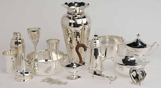 Forty-Five Silver-Plate Table Items
