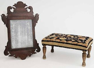 Chippendale Style Mirror and Crewel