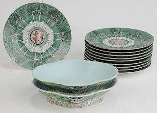 Chinese Porcelain Cabbage Leaf Pattern