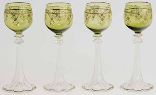 Set of Four Hock Wines