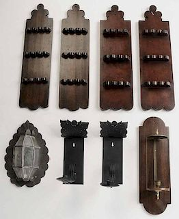 Group of Eight Wall Sconces