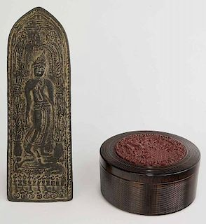Goddess Plaque and Round Box