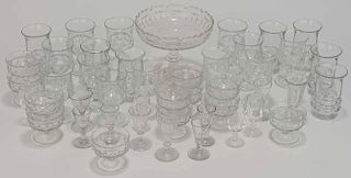 Group of 46 Pieces Glassware