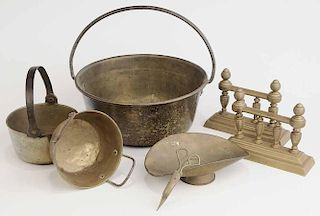Group of Seven Brass Items
