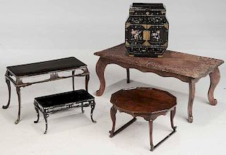 Asian Small Chest, Three Asian Stands,