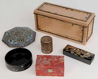 Five Decorative Boxes and Wine Coaster