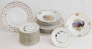Dinner, Fruit and Caviar Plates,