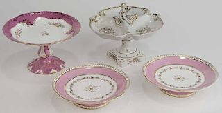 Group Four Sweet Meat Porcelain Stands
