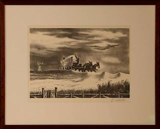 GEORGES L. SCHREIBER (1904-1977) PENCIL SIGNED LITHOGRAPH