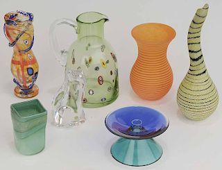 Seven Pieces of Studio Glass