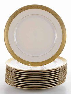 Twelve Lenox Gold-Etch Service Plates