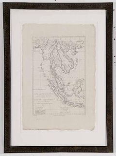 Engraved Map of Southeast Asia and