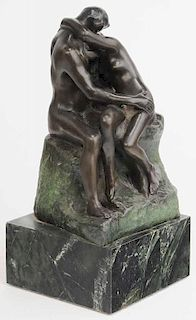Bronze Statuette of [The Kiss] after
