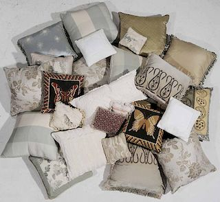 Twenty Seven Silk, Linen Pillows