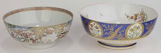 Two Porcelain Punch Bowls