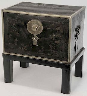 Asian Lacquered Valuables Chest