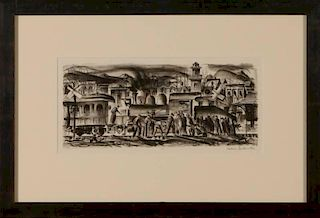 EDWIN L. FULWIDER (1913-2003) PENCIL SIGNED LITHOGRAPH
