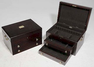 Pair of Large Silver Flatware Cases