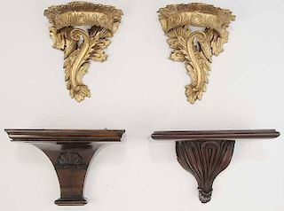 Group of Four Wall Brackets
