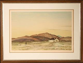 PETER HURD (1904-1984) PENCIL SIGNED COLOR LITHOGRAPH