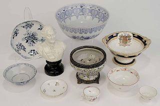 Ten Assorted Pieces of Porcelain
