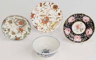 Group of Four Pieces Porcelain