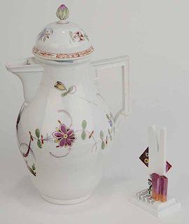 Two Pieces Meissen Porcelain