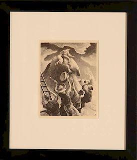 THOMAS HART BENTON (1889-1975) STONE LITHOGRAPH