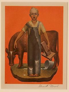 AFTER GRANT WOOD (1891-1942) OFFSET COLOR LITHOGRAPH