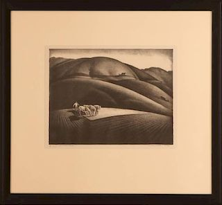 MILFORD ZORNES (1908-2008) PENCIL SIGNED LITHOGRAPH