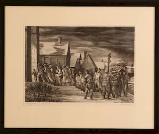 DUDLEY MORRIS (1912-1966) PENCIL SIGNED LITHOGRAPH