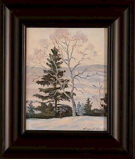 HENRY HOWARD BROOKS (1898-1981) OIL ON BOARD