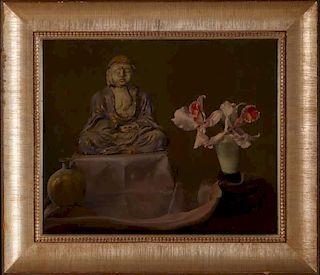 PRISCILLA WARREN ROBERTS (1916-2001) OIL ON PANEL