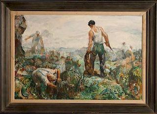 ROBERT VON NEUMANN (1888 -1976) OIL ON CANVAS BOARD