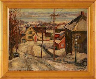1937 OIL ON PANEL ATTRIBUTED ERIK WINQUIST (1907-)