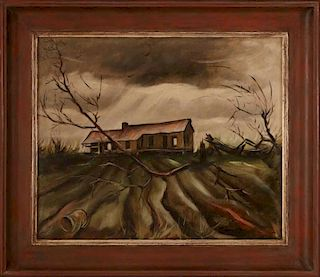 JOSEPH PAUL VORST (1897-1947) OIL ON CANVAS ON PANEL