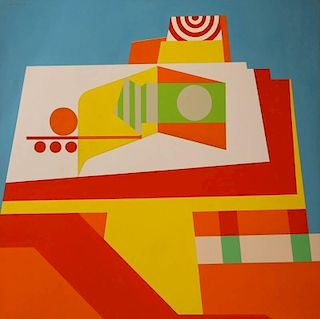 EDWARD R. LEWIS (1914-1992) ABSTRACT COMPOSITION