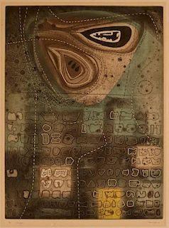 J. JESSE McVICKER (1911-2004) COLOR ETCHING